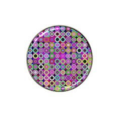 Design Circles Circular Background Hat Clip Ball Marker (4 Pack)