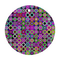 Design Circles Circular Background Round Ornament (Two Sides)