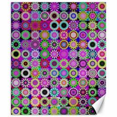 Design Circles Circular Background Canvas 8  X 10