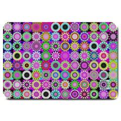 Design Circles Circular Background Large Doormat