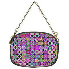 Design Circles Circular Background Chain Purses (Two Sides)