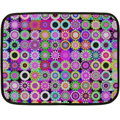 Design Circles Circular Background Double Sided Fleece Blanket (Mini)