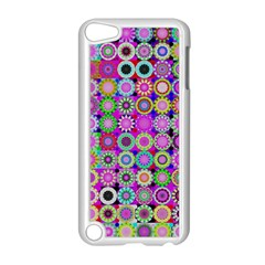Design Circles Circular Background Apple iPod Touch 5 Case (White)