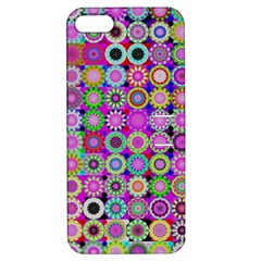 Design Circles Circular Background Apple iPhone 5 Hardshell Case with Stand