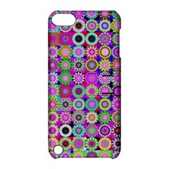 Design Circles Circular Background Apple iPod Touch 5 Hardshell Case with Stand