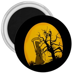 Death Haloween Background Card 3  Magnets