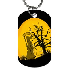 Death Haloween Background Card Dog Tag (Two Sides)