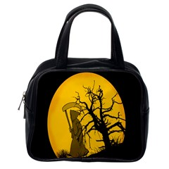 Death Haloween Background Card Classic Handbags (One Side)