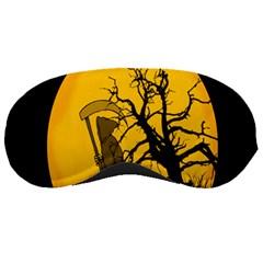 Death Haloween Background Card Sleeping Masks