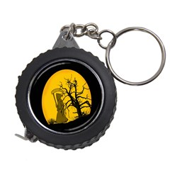 Death Haloween Background Card Measuring Tapes