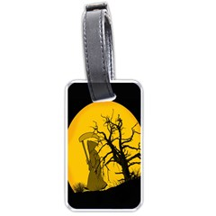 Death Haloween Background Card Luggage Tags (One Side)
