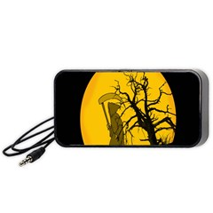 Death Haloween Background Card Portable Speaker (Black)
