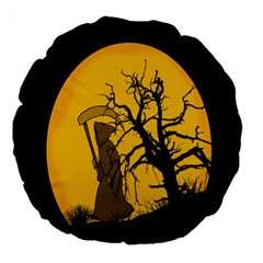 Death Haloween Background Card Large 18  Premium Round Cushions