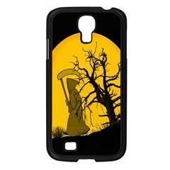Death Haloween Background Card Samsung Galaxy S4 I9500/ I9505 Case (Black)