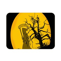 Death Haloween Background Card Double Sided Flano Blanket (Mini)