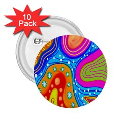 Doodle Pattern 2.25  Buttons (10 pack)
