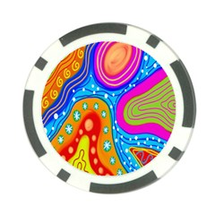 Doodle Pattern Poker Chip Card Guard