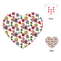 Doodle Wallpaper Playing Cards (Heart)