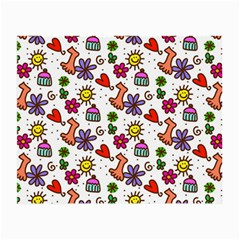 Doodle Wallpaper Small Glasses Cloth (2-Side)