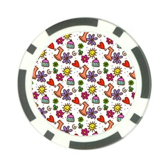 Doodle Wallpaper Poker Chip Card Guard