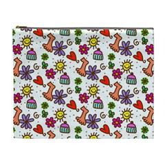 Doodle Wallpaper Cosmetic Bag (XL)
