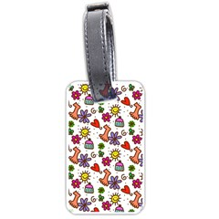 Doodle Wallpaper Luggage Tags (One Side)