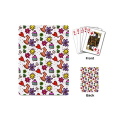 Doodle Wallpaper Playing Cards (Mini)