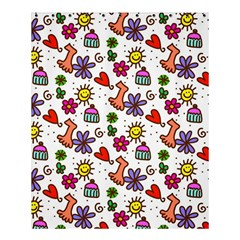 Doodle Wallpaper Shower Curtain 60  x 72  (Medium)