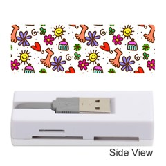 Doodle Wallpaper Memory Card Reader (stick)