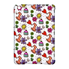 Doodle Wallpaper Apple iPad Mini Hardshell Case (Compatible with Smart Cover)