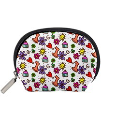 Doodle Wallpaper Accessory Pouches (Small)
