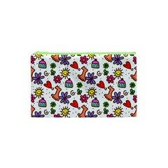 Doodle Wallpaper Cosmetic Bag (XS)
