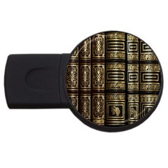 Detail Golden Gold Ornaments USB Flash Drive Round (2 GB)
