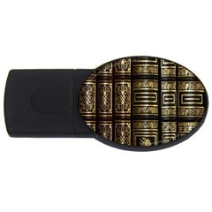 Detail Golden Gold Ornaments USB Flash Drive Oval (2 GB)