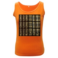 Detail Golden Gold Ornaments Women s Dark Tank Top