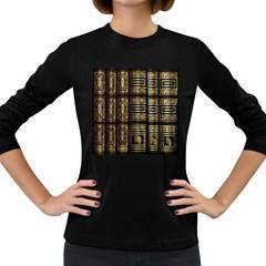 Detail Golden Gold Ornaments Women s Long Sleeve Dark T-Shirts