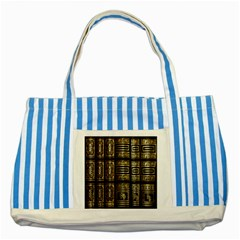 Detail Golden Gold Ornaments Striped Blue Tote Bag