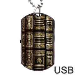 Detail Golden Gold Ornaments Dog Tag USB Flash (Two Sides)