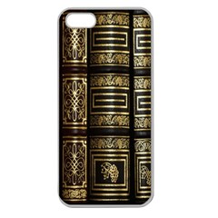 Detail Golden Gold Ornaments Apple Seamless Iphone 5 Case (clear)