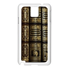 Detail Golden Gold Ornaments Samsung Galaxy Note 3 N9005 Case (White)