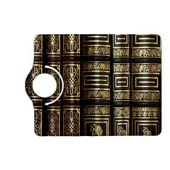Detail Golden Gold Ornaments Kindle Fire Hd (2013) Flip 360 Case