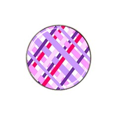 Diagonal Gingham Geometric Hat Clip Ball Marker