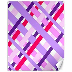 Diagonal Gingham Geometric Canvas 11  X 14