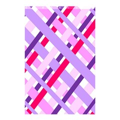 Diagonal Gingham Geometric Shower Curtain 48  x 72  (Small)