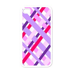 Diagonal Gingham Geometric Apple iPhone 4 Case (White)
