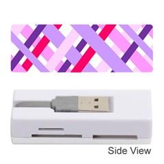 Diagonal Gingham Geometric Memory Card Reader (Stick)