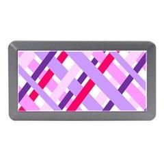 Diagonal Gingham Geometric Memory Card Reader (mini)