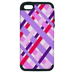 Diagonal Gingham Geometric Apple iPhone 5 Hardshell Case (PC+Silicone)