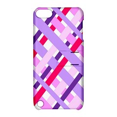 Diagonal Gingham Geometric Apple Ipod Touch 5 Hardshell Case With Stand