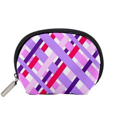 Diagonal Gingham Geometric Accessory Pouches (Small)